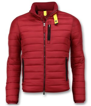 Enos Men Padded Jacket Short - Red