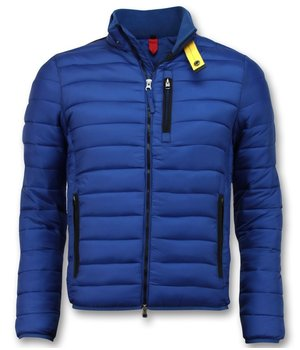 Enos Trendy Men's Short Jacket - Slim Fit Quilted Jacket - Blue