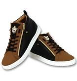 Cash Money Men's Sneaker -  Bee Camel Black Gold High - CMS98 - Brown