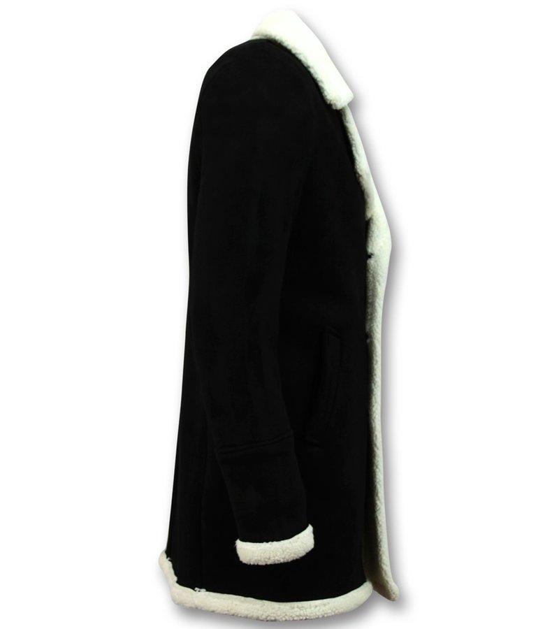 Frilivin Imitation Fur Coat Parka - Lammy Coat Men - Black