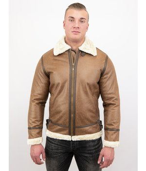 Tony Backer Men Shearling Jacket - Brown
