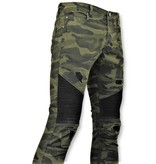 New Stone Army Print Jeans For Men - 3020-18 - Green