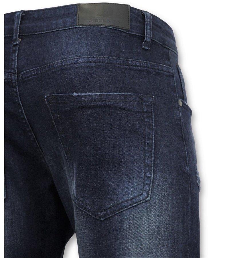 True Rise  - D&Co Basic Jeans - Man Jeans Washed - D3017 - Blue