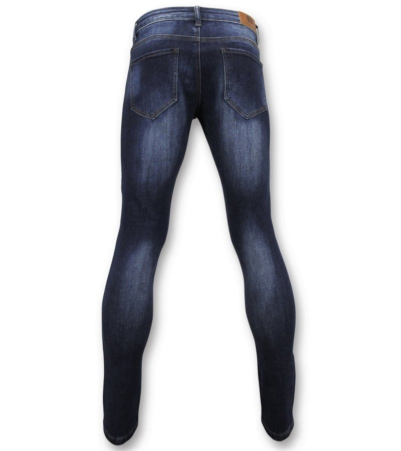 True Rise  - D&Co Basic Jeans Men - Jeans Washed - D2432 - Blue