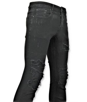 True Rise  - D&Co Ripped Men's Jeans - Jeans Worn - D3080 - Black