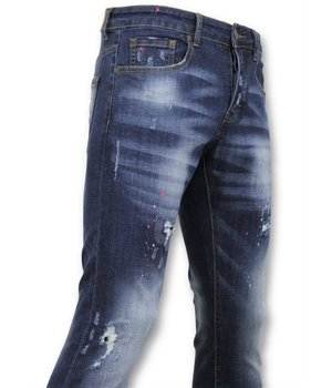 True Rise  - D&Co Basic Pants Men - Men Jeans Paint - D3065 - Blue