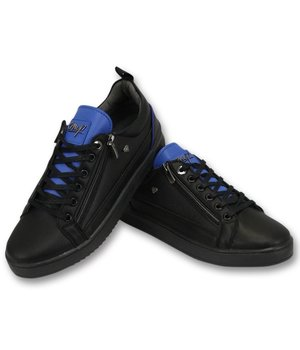 Cash Money Maximus Black Blue Men Trainers - CMS97 - Black