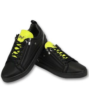 Cash Money Men's Sneakers - Maximus Black Yellow - CMS97 - Black