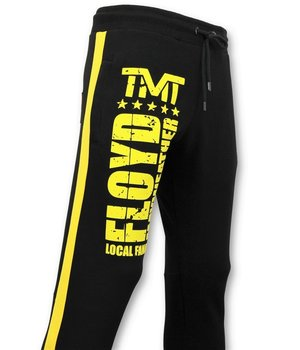 Local Fanatic Men's Exclusive Training Pants - Floyd Mayweather Sweatpants - Black