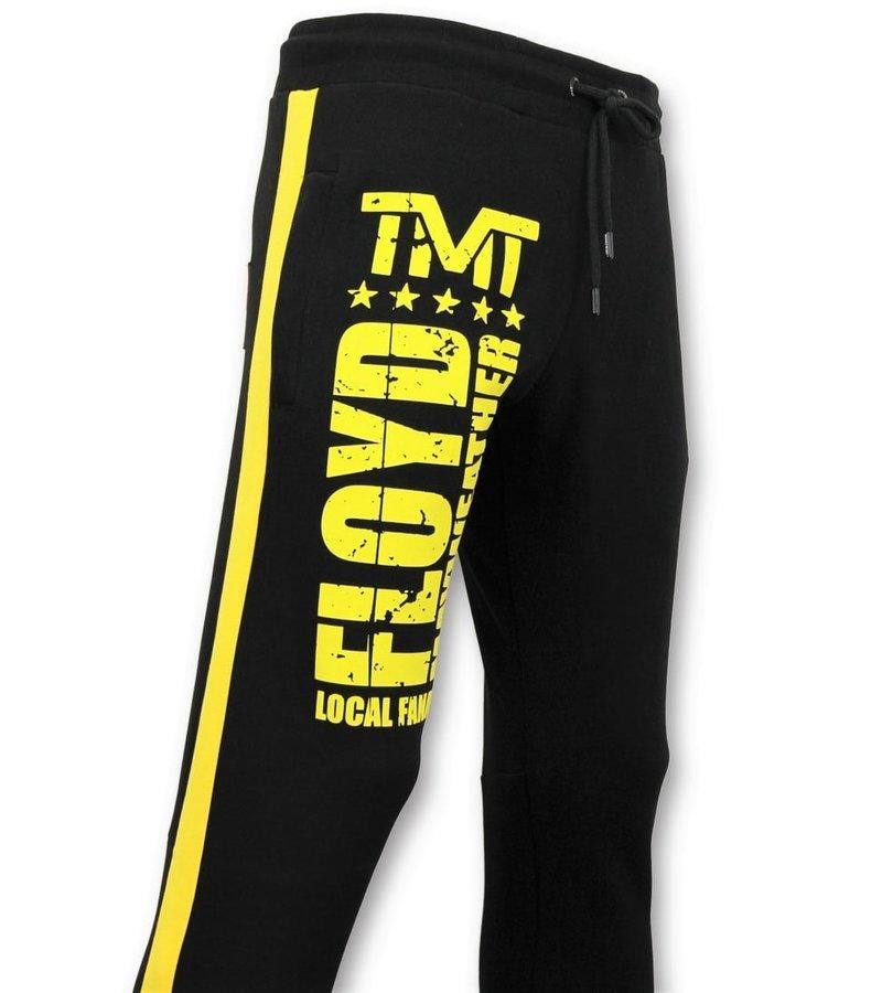 Local Fanatic Men's Exclusive Training Pants - Floyd Mayweather Sweatpants - Black
