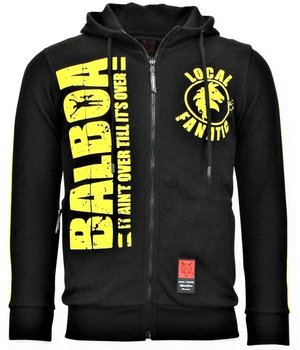 Local Fanatic Rocky Balboa Printed Zip Hoodie - Black