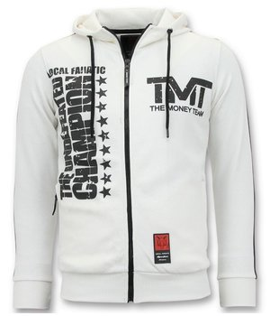 Local Fanatic TMT Floyd Mayweather Zip Hoodie - White