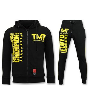 Local Fanatic Exclusive Tracksuit Men - TMT Floyd Mayweather Set - Black