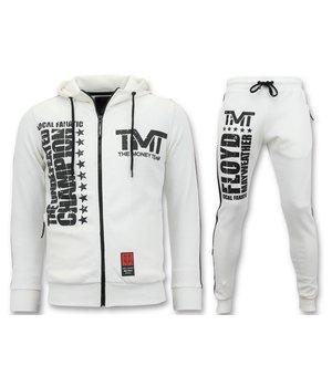 Local Fanatic Exclusive Jogging Suit Men - TMT Floyd Mayweather Set - White