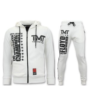 Local Fanatic TMT Floyd Mayweather Tracksuit Set - White