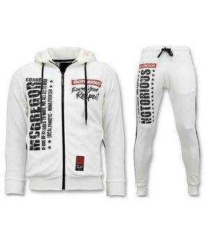 Local Fanatic Exclusive Men's Jogging Suit - Mcgregor Notorious Sport Set - White