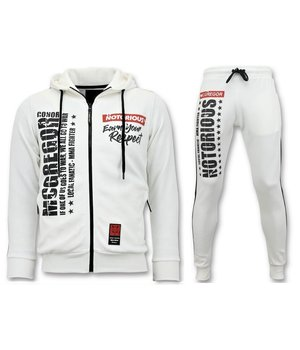 Local Fanatic Mcgregor Notorious Tracksuit Set- White