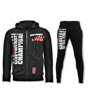 Local Fanatic Exclusive Men's Jogging Suit - Muhammad Ali Sport Set - Black