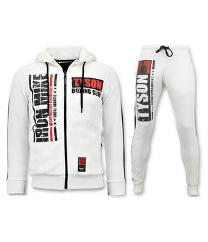 Local Fanatic Exclusive Men's Jogging Suit - Iron Mike Tyson Boxing - White