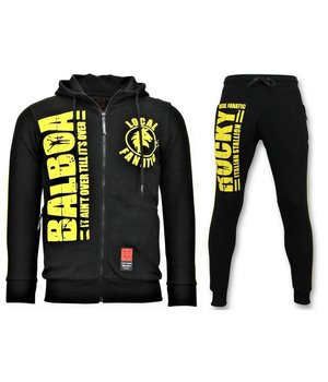 Local Fanatic Rocky Balboa Men Tracksuit Set - Black