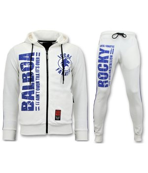 Local Fanatic Exclusive Men's Tracksuit - Rocky Balboa Sport Suit - White