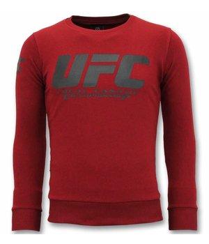 Local Fanatic UFC Championship Men Sweater - Bordeaux