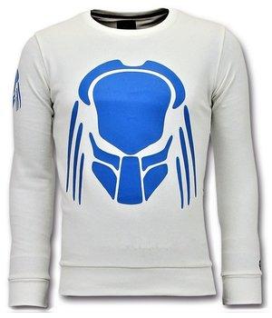 Local Fanatic Predator Printed Sweatshirt - White