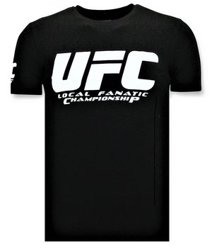 Local Fanatic T-shirt Men - UFC Championship Print - Black