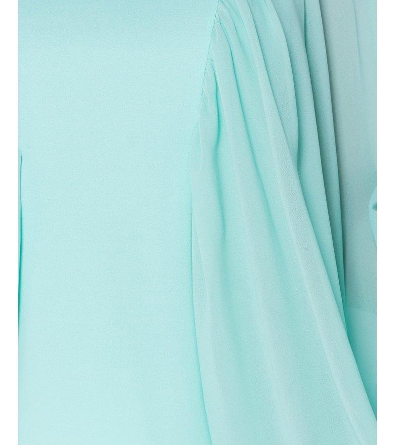 PARISIAN Batwing Sleeve Chiffon High Neck Blouse - Women - Green