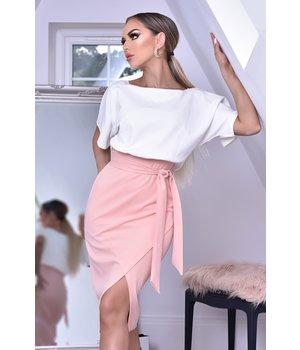 CATWALK Sabrina Batwing Contrast Dress - Women New - Pink