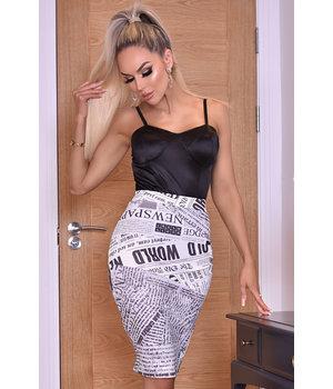 CATWALK Misha Ivory Midi Skirt - Women Style - Beige
