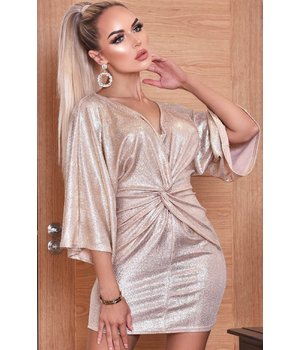 CATWALK Anika Metallic Twisted Knot Dress - Women Dress - Gray