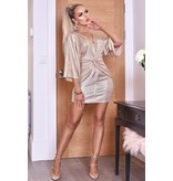 CATWALK Anika Metallic Twisted Knot Dress - Women Dress - Gray