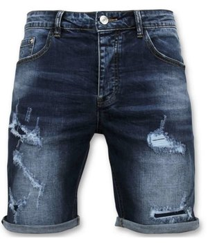 Enos Men Short Pants - Jeans Short - 9082 - Blue
