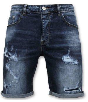 Enos Ripped Denim Shorts Men - 9082 - Blue
