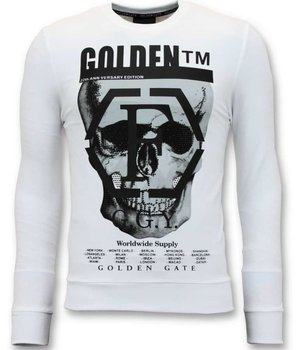 Enos Skull Printed Sweatshirt For Men - White