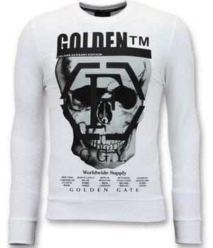 Enos Sweater Print Men - Skull Head - 7319 - White