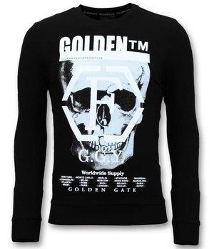 Enos Men's Sweater Print - Skull Head - 7319 - Black