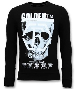Enos Skull Printed Sweatshirt For Men - Black
