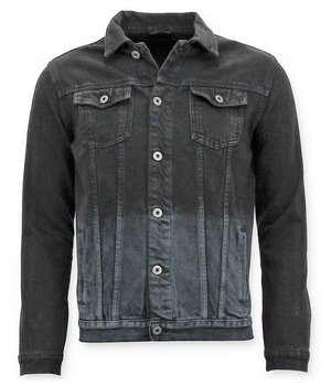 Enos Men Denim Jacket  -  Black