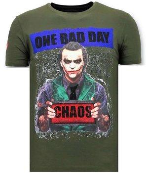 Local Fanatic Printed Joker Man T Shirt  - Green