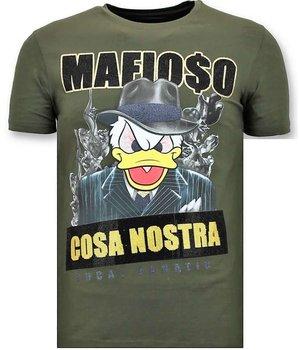 Local Fanatic Cosa Nostra Mafioso Men T Shirt - Green