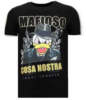 Local Fanatic Cosa Nostra Mafioso Men T Shirt - Black