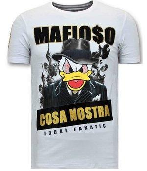Local Fanatic Cosa Nostra Mafioso Men T Shirt - White