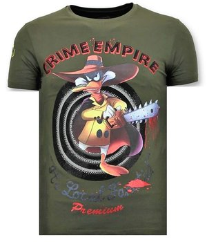 Local Fanatic Tough Men T-shirt - Crime Empire - Green