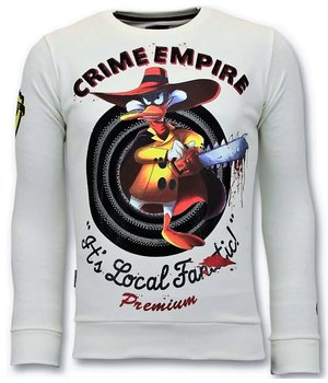 Local Fanatic Crime Empire Men Sweatshirt - White