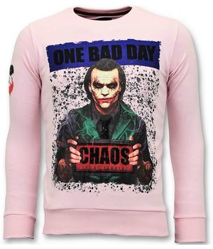Local Fanatic Exclusive Men Sweater - The Joker Man - Pink