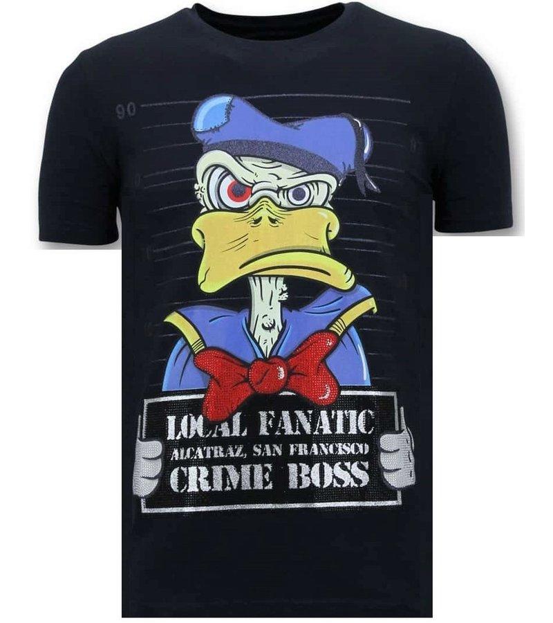 Local Fanatic Alcatraz Prisoner Printed T Shirt Men - Blue