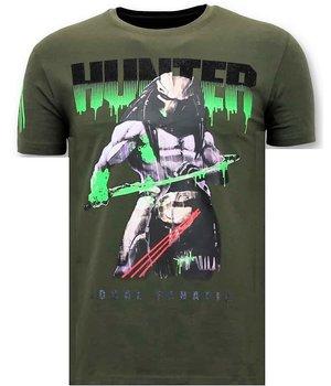 Local Fanatic Predator Hunter Printed Men T Shirt - Green