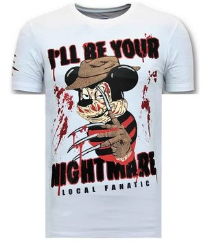 Local Fanatic Freddy Krueger Men T Shirts - White
